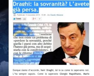 Draghi la sovranità l'avete perduta_byoblu
